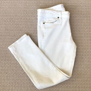 Paige white crop jeans